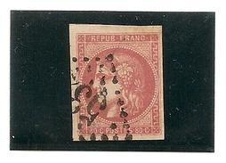 France N° 49e Saumon , Avec Certificat Photo, Timbre Premier Choix Beau Timbre RRR - 1870 Bordeaux Printing