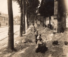 France Paris Ouvriers Travaux Ancienne Photo Societe Parisienne D'Electricite 1910 - Photographs
