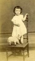 France Blois Jeune Garcon & Jouet Belier ? Ouzillian Ancienne Photo Maignan 1860