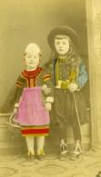 France Blois Enfants En Costume Regional Ancienne Photo Maignan 1870