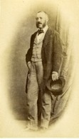 France Homme Elegant Mode Second Empire Ancienne Photo CDV 1860