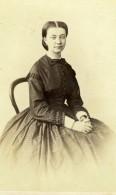 France Nantes Jeune Dame Elegante Fougeray Mode Second Empire Ancienne Photo CDV Wolter 1860
