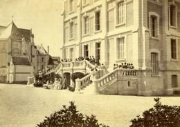 France Tours Ecole Pensionnat De Filles Escalier Exterieur Photo Carte Cabinet Ancienne Blaise 1870