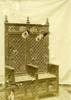 Photo Ratee D'un Trone Religieux? Mauvais Tirage Ancienne Photo 1900'