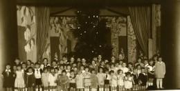 France Groupe D'Enfant Sur Une Scene Décor Theatre Ancienne Photo 1930 - Photographs