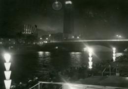 France Paris By Night Exposition Internationale Ancienne Photo Sylvain Knecht 1937 - Photographs