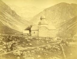 Suisse Chapelle De Montagne Alpes Ancienne Photo 1870