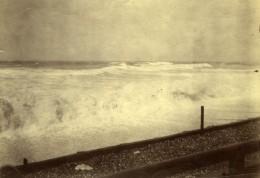 France? Bords De Mer Plage Et Vagues Ancienne Photo Anonyme Vers 1900 - Photographs