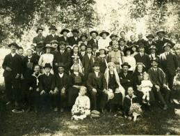 France Bretagne Mariage Portrait De Famille Groupe Ancienne Photo 1910 - Photographs