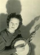 France Joueuse De Banjo Ancienne Photo Sylvain Knecht 1930