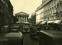 France Paris La Madeleine Scene De Rue Automobiles Ancienne Photo Sylvain Knecht Vers 1940 - Photographs