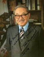 USA California Senateur Sam Hayakawa Portrait Dedicace Autographe 1979
