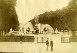 France Paris Jardin Du Luxembourg Fontaine Ancienne Photo Albumine 1900 - Photographs