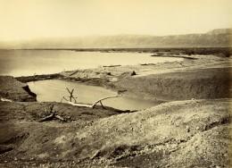 Palestine Mer Morte Dead Sea Panorama Ancienne Photo Felix Bonfils 1870