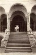 Tunisie Tunis Palais Du Bardo Escalier Des Lions Arcades Ancienne Photo 1880'