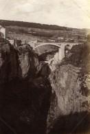 Algerie Constantine Panorama Pont Et Falaises Ancienne Photo 1880'
