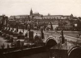 République Tchèque Prague Praha Pont Vue Generale Ancienne Photo 1880'