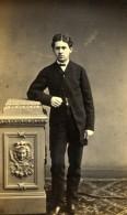 France Homme En Pied Mode Second Empire Ancienne Photo CDV Bureau Vaillat 1860