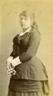 France Femme Mode Feminine Second Empire Ancienne Photo CDV Berthier 1860