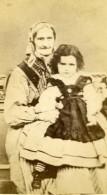 Yougoslavie Grand Mere Et Enfant Petite Fille Ancienne Photo CDV 1860's