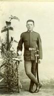 Hongrie Militaire En Uniforme Ancienne Photo CDV Gustav Aberle 1900'