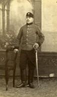 Tchécoslovaquie Militaire En Uniforme Ancienne Photo CDV Vilem Hirsch 1900'