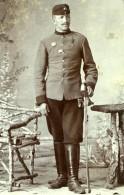 Tchécoslovaquie Militaire En Uniforme Ancienne Photo CDV Michalec 1900'