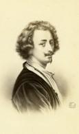 Peintre Baroque Flamand Antoine Van Dyck Ancienne Photo CDV Charlet & Jacotin 1870