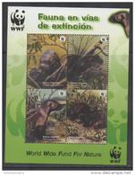 PERU, 2004, MNH, WWF, OTTERS, S/SHEET - Other