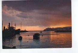 U330 Cartolina Con Tramonto E Nave Navi Ship Bateau - Sunset Coucher _ CIRCOLATA 1969 - Barche