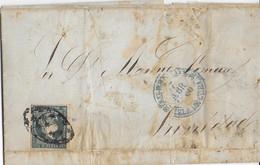 COLONIE ESPAGNOLE : CUBA - 1860 - LETTRE De SANTI SPIRITUS => TRINIDAD - Cuba (1874-1898)