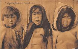 CANADA / Newfoundland - Esquimaux Children - Three Of A Kind