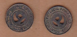 AC -  VIRGINIA ELECTRIC AND POWER CO PORTSMOUT DIV ONE FARE TOKEN - JETON - Monetary/Of Necessity