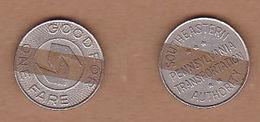 AC -  SOUTHEASTERN PENNSYLVANIA TRANSPORTATION AUTHORITY GOOD FOR ONE FARE TOKEN - JETON - Monedas/ De Necesidad