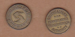 AC -  SOUTHEASTERN PENNSYLVANIA TRANSPORTATION AUTHORITY #2 GOOD FOR ONE FARE TOKEN - JETON - Monedas/ De Necesidad