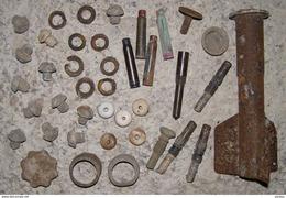 Lot N°2 De Pièces Détachées De Grenades Allemandes Oeuf Kugel Signalwerfer Grenade à Manche Cartouches Propulsives - 1914-18