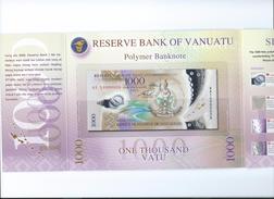 Vanuatu 1000 Vatu 2014 Handsigned, In Folder UNC - Vanuatu
