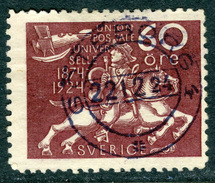SWEDEN 1924 60o Violet Brown UPU Anniversary Fine Used SG 223 - Sweden