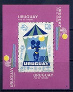 URUGUAY 1974 No. 1305 (BL.20) 100 Universal Postal Union (UPU). UPU - Fußball-Weltmeisterschaft