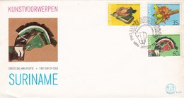 Suriname  FDC   E034         Year Of The Child ( Nrs 764 - 766 )      Kunstvoorwerpen / Art - Surinam