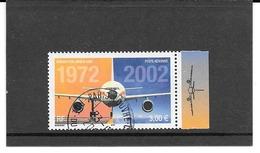 FRANCE 2002   30e ANNIVERSAIRE DU PREMIER VOL DE L'AIRBUS A300.TIMBRE GOMME CACHET ROND AVEC BORD ILLUSTRE.PA.Y&T: N°65a - Poste Aérienne