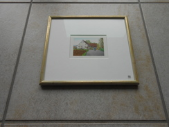 "Original Acryl Malerei  Schweiz BL ""Therwil Untere Mühle""- 450,00 € - Acrilici"