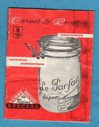 Carnet De Recettes Conserves Le Parfait - Gastronomie