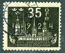 SWEDEN 1924 35o Black UPU Anniversary Fine Used SG 203 - Sweden