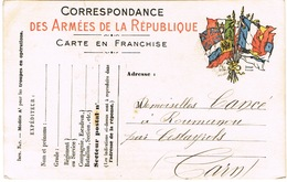 CARTE FRANCHISE MILITAIRE NOVEMBRE 1913 - Marcophilie (Lettres)