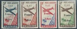 Reunion 1943      Sc#C14-7  Airmails Set  MNH   2016 Scott Value $32.50 - Réunion (1852-1975)