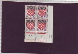 N° 1352 - 0,05F Blason D'AMIENS - B De A+B - 1° Tirage Du 5.7.62 Au 4.8.62 - 25.7.1962 - - 1960-1969