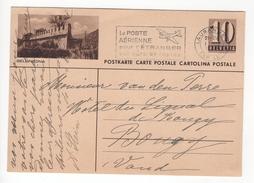 Entier Postal Illustré De 10 Cts Bellinzona. Circulé En 194?? - Suisse