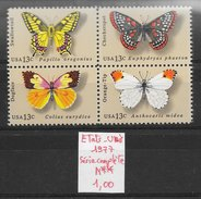 Insecte Papillon - Etats-Unis N°1160  à 1163 1977 ** - Papillons