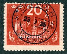 SWEDEN 1924 20o Rose Red UPU Anniversary Fine Used SG 200 - Sweden